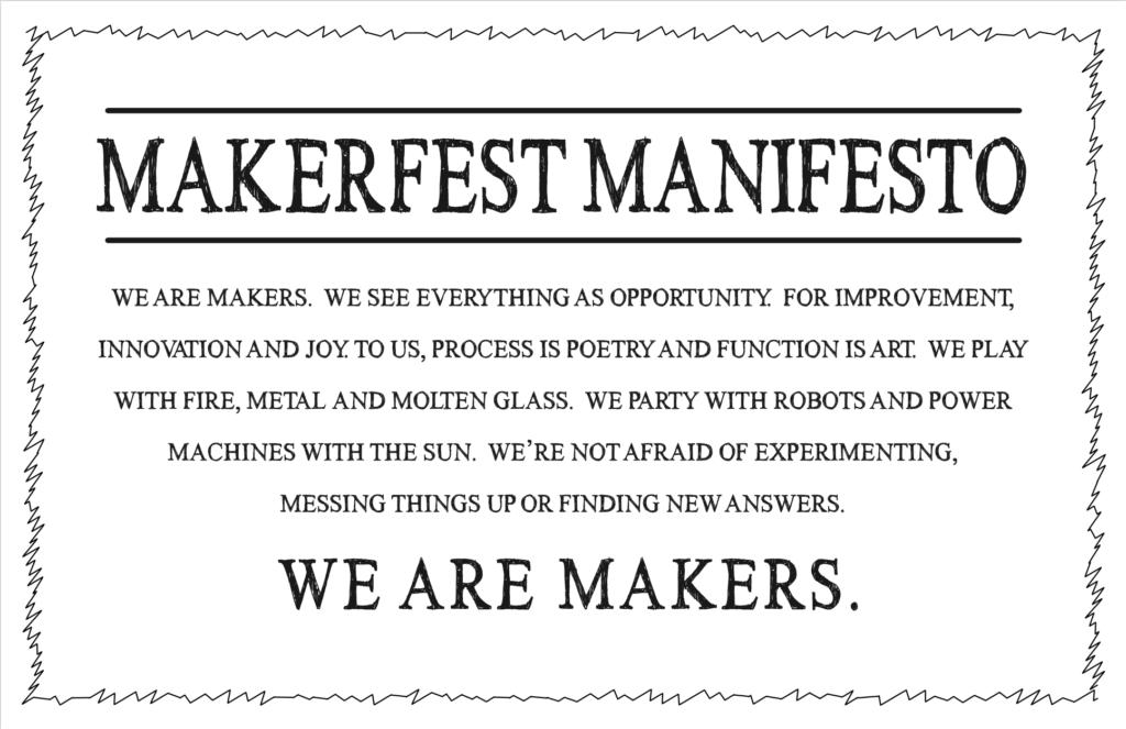 Makerfest Manifesto